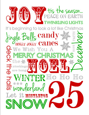Free Christmas Subway Art 24 7 Moms
