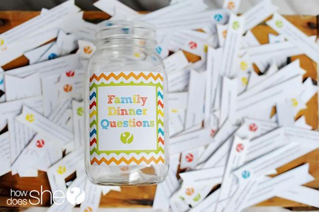 Diy Family Dinner Question Jar 24 7 Moms