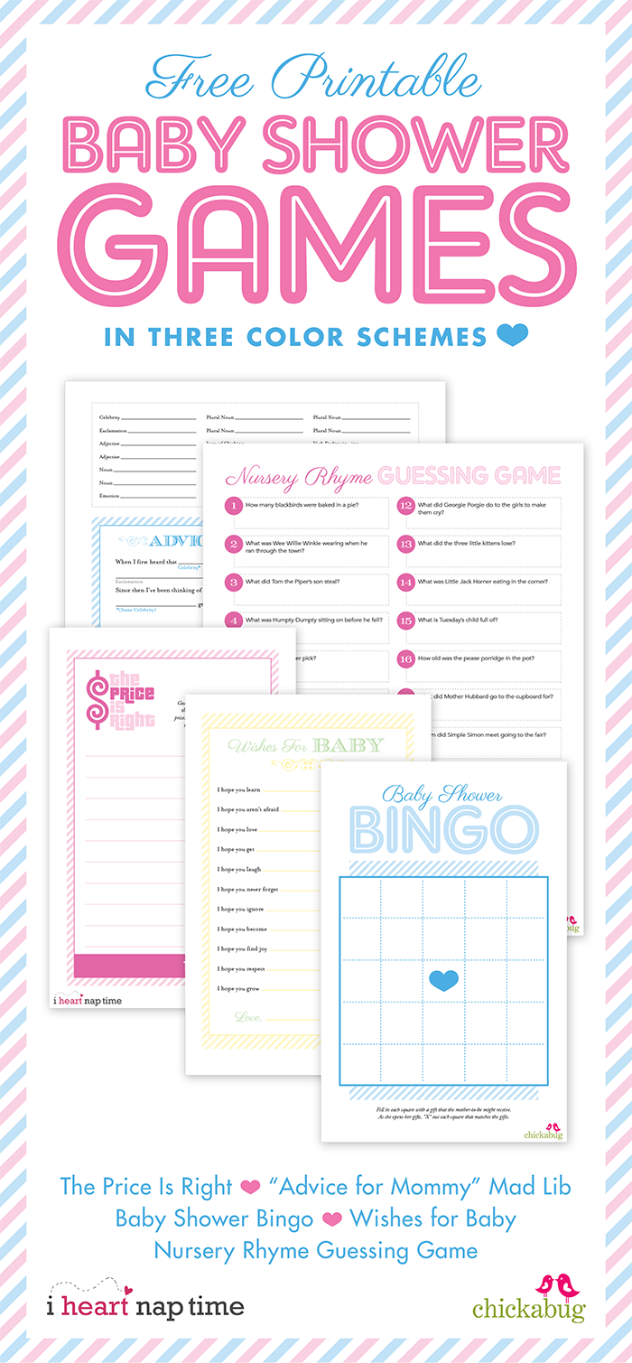 Free Baby Shower Game Printables 24 7 Moms