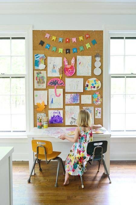 Exhibit children's artwork