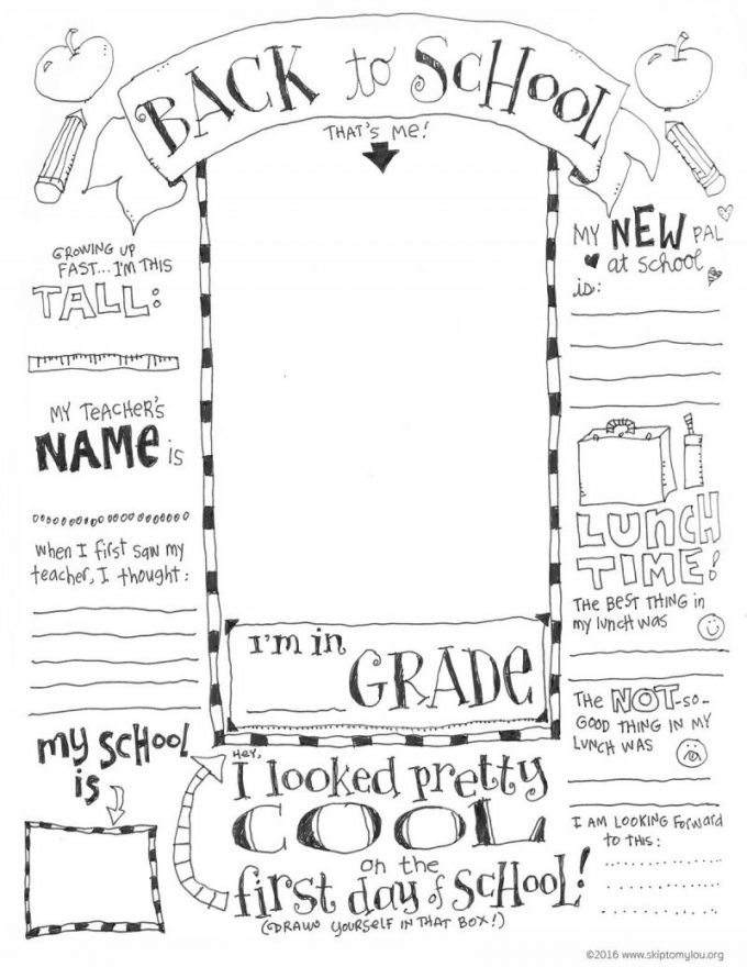 - First Day Of School Coloring Page Printable - 24/7 Moms