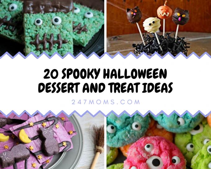 spooky Halloween dessert treats