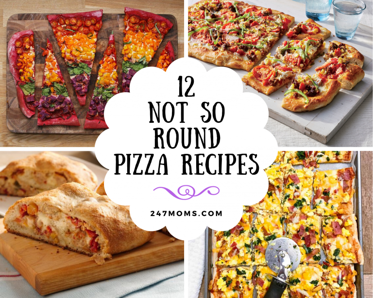 not round pizza recipes
