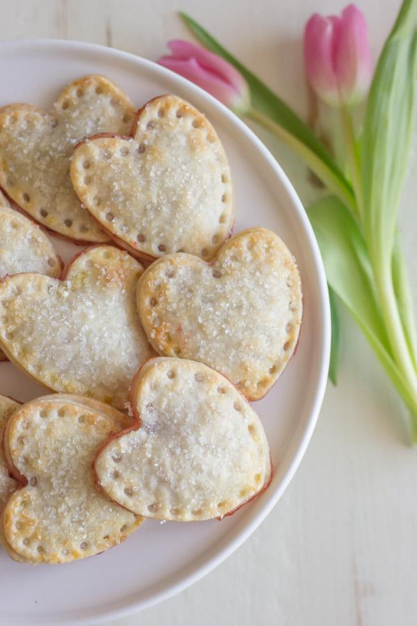 heart shaped valentine's treats