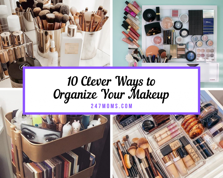 clever ways organize makeup