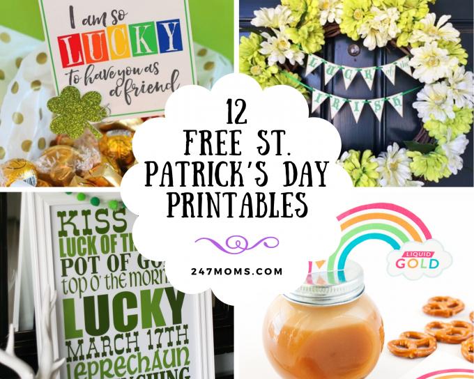 free st patrick's printables