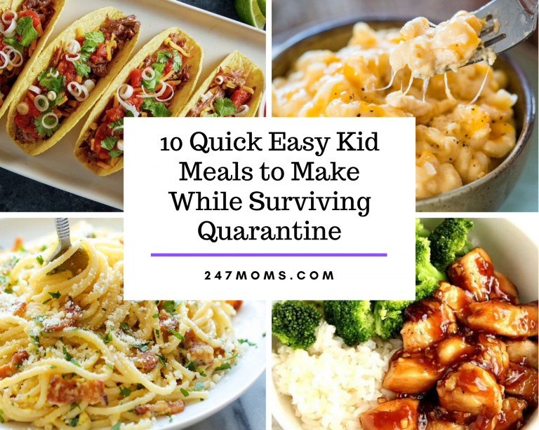 quick kid meals quarantine