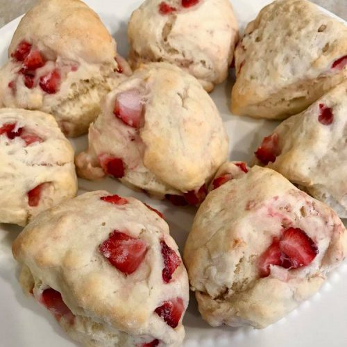 Fresh Strawberry Scones Recipe