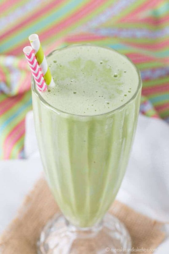 Healthy Shamrock Shake Mint Smoothie