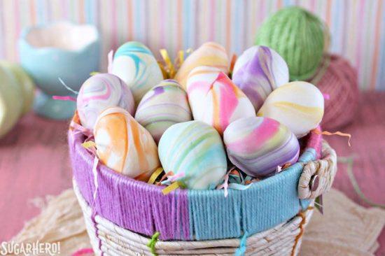 Marbled Easter Egg Truffles