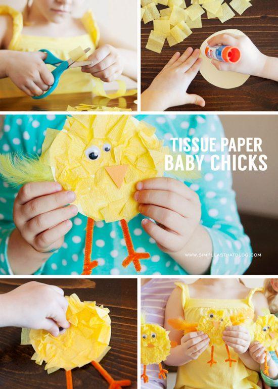 Tissue Paper Baby Chicks